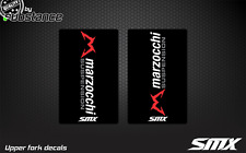 SMX motocross graphics Marzocchi stickers upper fork decals suspension graphic