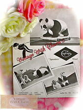 Vintage 1940s Toy Knitting Pattern 'Baby Giant Panda' 21in. Long, 11½in. High