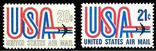 """Us Scott # C75 & C81 """"Usa"""" and Jet 20¢ & 21¢ Set of 2 Mnh *Free Ship*"""