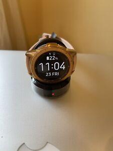 Samsung Galaxy Watch SM-R815 42mm Rose Gold Case Classic Buckle Pink Beige - LTe