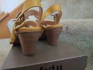 Fidji Sun Yellow Sandals Sz.38 New NIB
