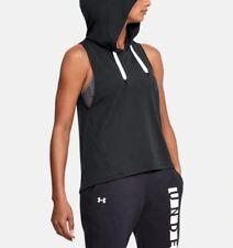 Under Armour Vest UA Women's Modal Terry Hooded Hoodie XL Black Retail $50