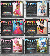 10 Personalised Photo Thank You Cards Baby Boy or Girl / Birthday / Christening