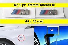 2 x Stemma Laterale M Sport 3D BMW 45x15 mm ABS adesivo e87 e90 e70 logo fregio