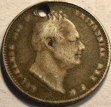 "GREAT BRITAIN - William IIII - ""Holey"" Silver Shilling  1834 - KM-713"