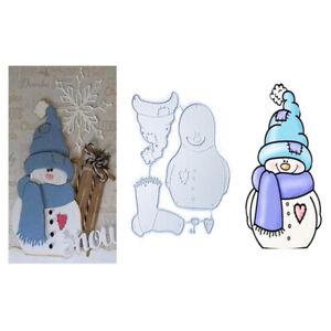 Christmas Snowman Metal Cutting Dies Stencils Scrapbooking Embossing Card Craft