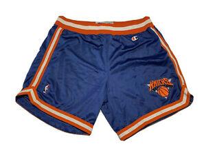 Gamer Player Issued Champion New York Knicks NBA Shorts Circa 1991 Blue Size 42