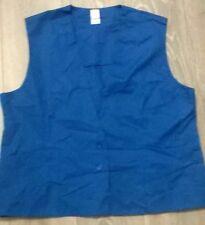 Ladies uniform waistcoat tunic Salon Beauty Hairdresser etc Size 22 NEW Blue