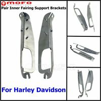 2Pcs Inner Front Batwing Fairing Support Bracket For Harley Electra Glide FLHTCU
