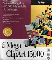 Softkey Mega Clip Art 15,000 for Windows 95