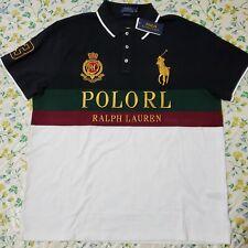 BIG & TALL Polo Ralph Lauren Mens Big Pony Polo Shirt White/ Multi