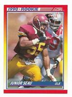 Junior Seau 1990 Score Football Rookie RC #302 ~ San Diego Chargers USC
