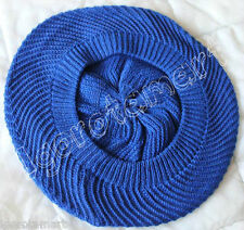 Ribbed Braided ROYAL BLUE Hot Women's Warm Winter Knit Ski Cap Beanie Beret Hat