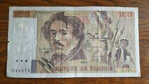 Billet de 100 francs delacroix