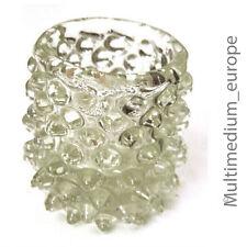 Murano Nuppen Glas Vase Klarglas Italy glass