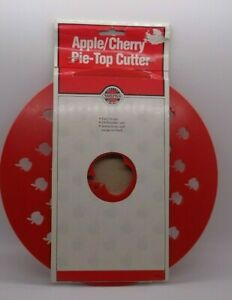 NORPRO Apple Cherry Pie Top Cutter  Pie Crust Cutter Vntg Orig Package Recipes
