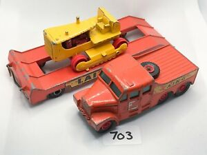 MATCHBOX KING SIZE # K-8 LAING SCAMMELL 6X6 PRIME MOVER LOW LOADER CATERPILLAR