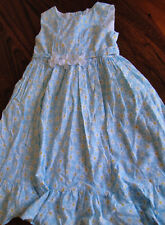 Sophie Rose Girls Summer Dress Size 5 Sleeveless Daisy Blue White Yellow Floral