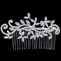 Stunning Bridal Wedding Crystal Rhinestones Diamante Vintage Hair Comb Clip New