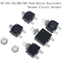 5A//10A//15A//20A//30A Push Button Resettable Thermal Circuit Breaker Panel Mount HH