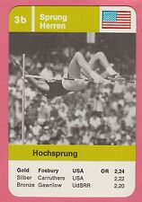German Trade Card 1968 Olympics High Jump Gold Medal Winner Dick Fosbury  Flop