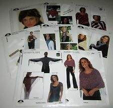 Lot of 8 Plymouth PONCHOS Hat SCARVES Shawls and SHELL knitting yarn patterns
