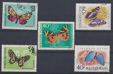 HUNGARY ----- Butterflies,   5pcs,   Used