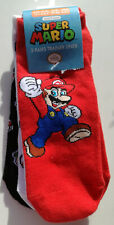 Super Mario Shoe Liners 3pk Size 4-6.5UK Adult Nintendo Official Licensed BNWT