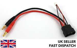 TRX Male Balance Lipo charge cable/lead 3S to 4mm Bullet/Banana *Traxxas Compat*