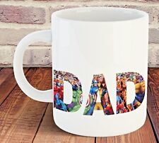 DAD SUPERHERO MUG CUP 11OZ BIRTHDAY CHRISTMAS FATHER'S DAY DAD GIFT MARVEL DADDY