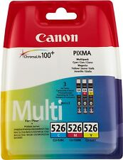 Canon CLI 526 Multipack NEUF & ORIGINAL cli526z C/M/y Cyan Magenta yellow