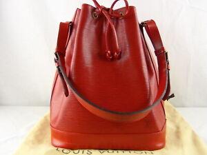 US seller Authentic LOUIS VUITTON EPI LARGE BUCKET BAG GOOD LV RED DUST BAG