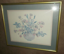 """Flowers in Vase Vintage Print 31.5""""X25.5""""by Franklin Picture Co. Framed Matted"""