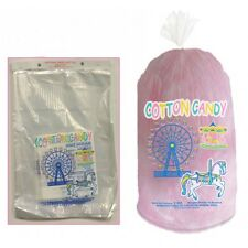 "500 ct Plastic Cotton Candy Floss Bags w/ Ties -18"" x 12"" Concessions Wholesale"
