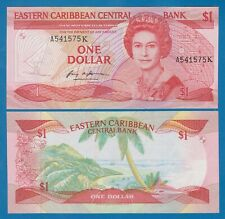 East Caribbean States 1 Dollar P 17k UNC St. Kitts, Low Shipping! Combine! 17 K