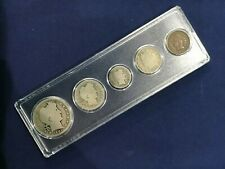 1901 United States Silver Year Set of Five Classic Coins     E7379
