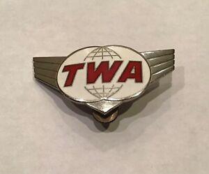 1960's Vintage TWA Agents Hat Insignia