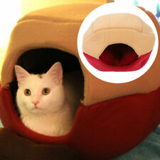 Dual Use Cat Dog House Puppy Cave Pet Sleeping Warm Pad Nest Kennel Pet Supplies