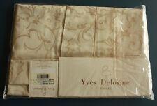 "New Yves Delorme Paris Capri European Pillow Sham Beige 100% Cotton 28""x31"""