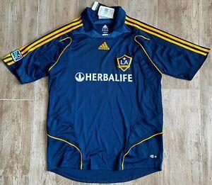 2007-08 Adidas LA Galaxy Beckham Blue Soccer Kit Jersey-NEW-Large-NWT