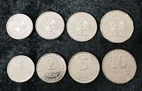 SRI LANKA SET 4 UNC COINS 1 2 5 25 10 RUPEES 2017 P NEW