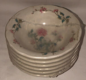 "6 Syracuse Restaurant Ware *SUMMERDALE FLOWERS*6 1/4"" CEREAL BOWLS*ORIGINAL WRAP"
