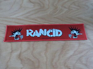 RANCID - MOHAWK (NEW) SEW ON STRIPPATCH OFFICIAL BAND MERCHANDISE