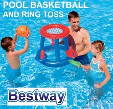 BESTWAY Inflatable Pool Basketball & Ring Toss Game with Ball Outdoor Beach Toys