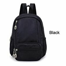 Women Backpack Waterproof Nylon Small Mini School Bags Girls Birthday Gift Solid