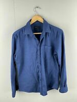 GF Lock Men's Long Sleeve Button Up Shirt with Pocket - Size Medium Blue
