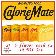 Calorie Mate Balanced Food 5 flavor x2 10 BOX Fruit,Chocolate,Cheese,Maple,Plain