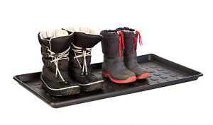 2x Schuhabtropfschale Schuhablage Schuhwanne Tablett Kunststoff schwarz 76x39cm