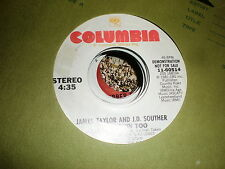 James Taylor/J D Souther 45 Her Town Too COLUMBIA PROMO