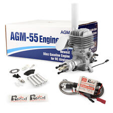AGM55 Gas Gasoline Engine 55cc+CDI Ignition Muffler VS DLE55 for RC Airplane
